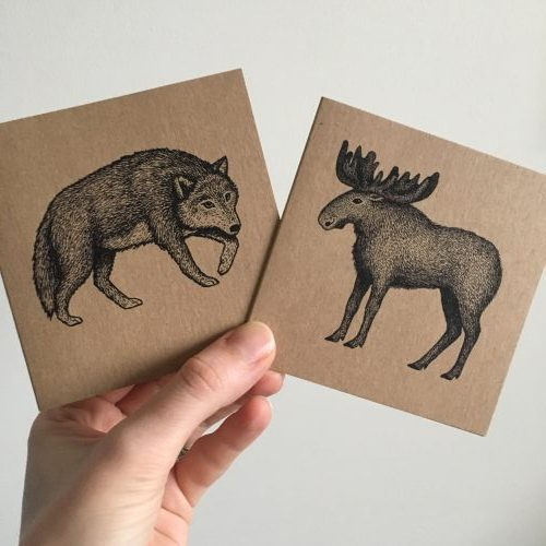 Wolf and Moose