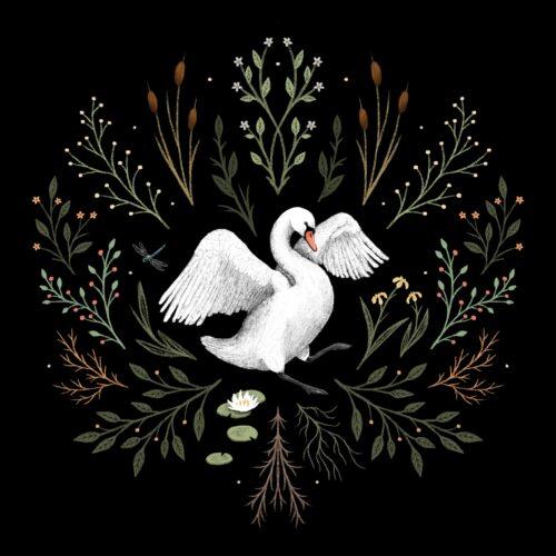 Botanical Swan